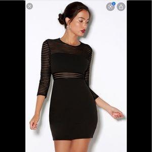 Lulus perfect mesh bodycon Dress